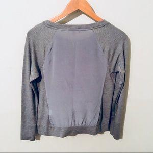 BANANA REPUBLIC XS mesh ATHLEISURE sweatshirt top